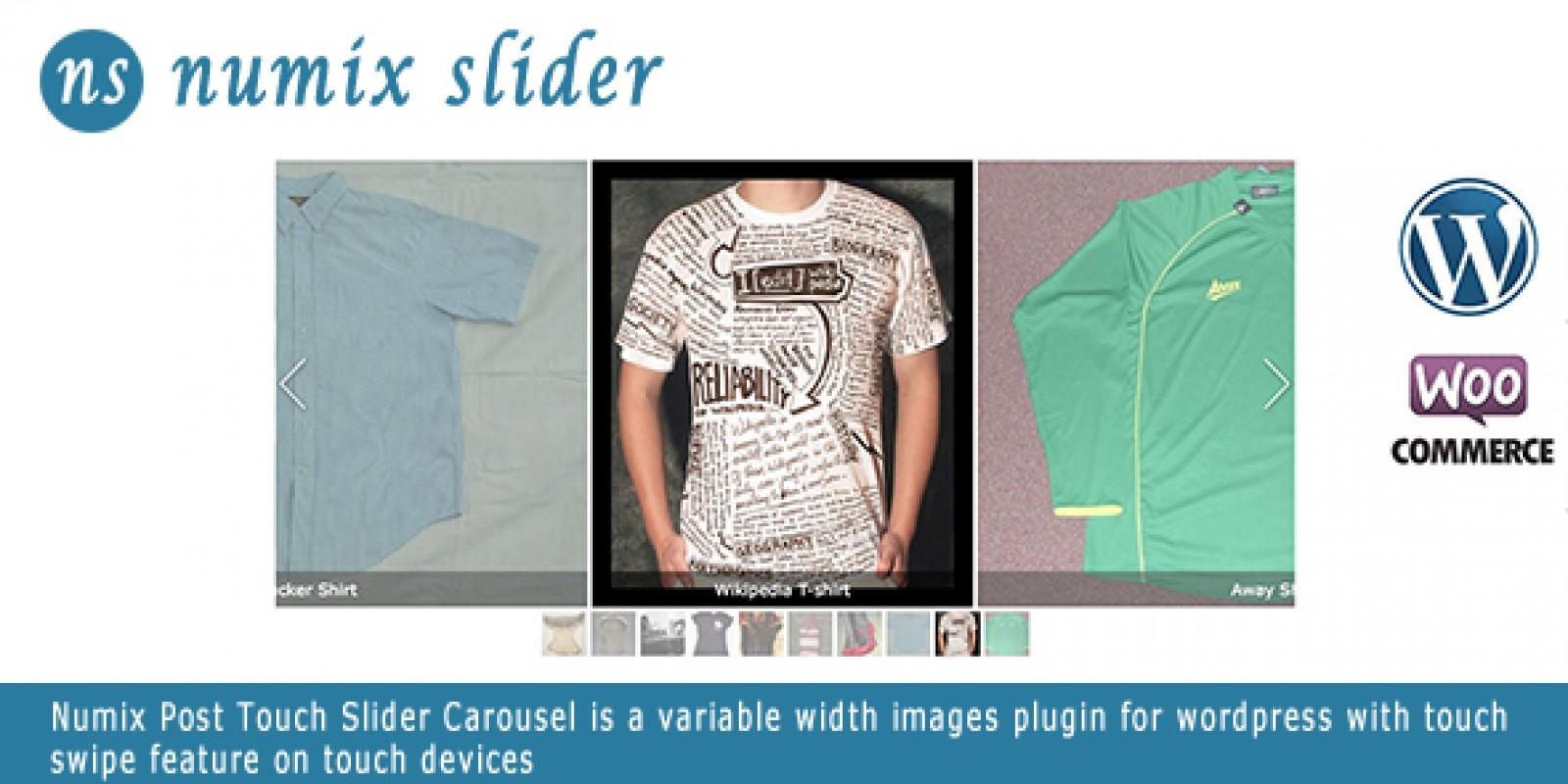 Numix Touch Slider Carousel - Wordpress Plugin