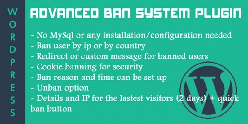 Ban System WordPress Plugin - By IP and Country