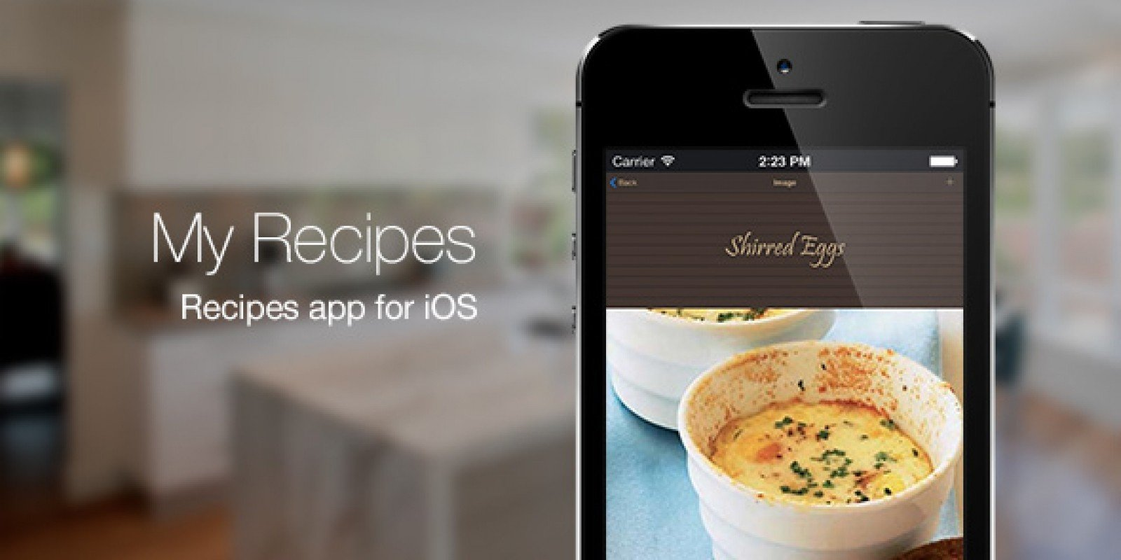 My Recipes - Recipe App for iOS App Source Code