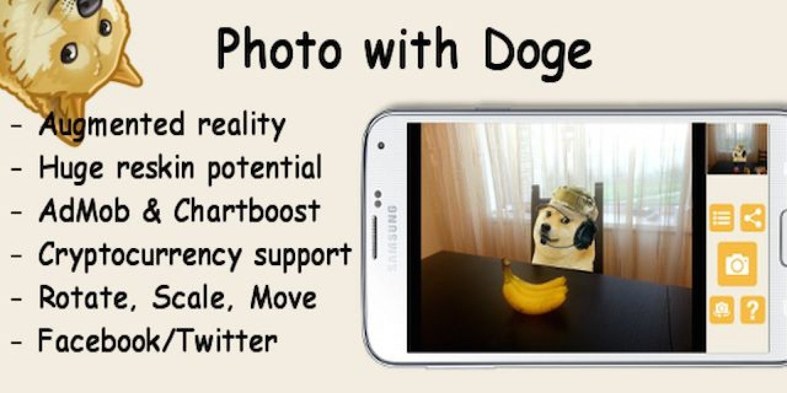 Photo With Doge - Android App Source Code