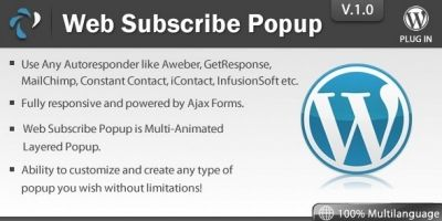 Web Subscribe Popup - Wordpress Plugin