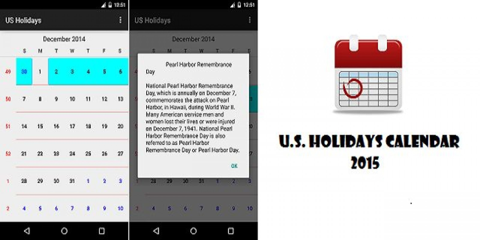 US Holidays Calendar - Android App Source Code by ...