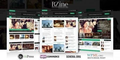 Bzine - WordPress HD Magazine Theme