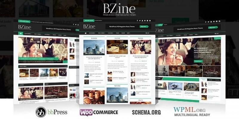 Bzine - WordPress HD Magazine Theme
