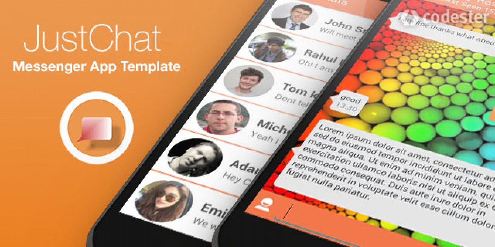 JustChat - Android Messenger App Template