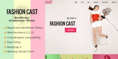 Fashion Cast - WooCommerce  WordPress Theme