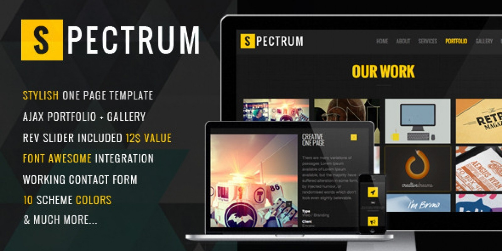 Spectrum - Responsive One Page HTML Template