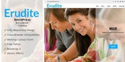 Erudite - WordPress  Education Theme