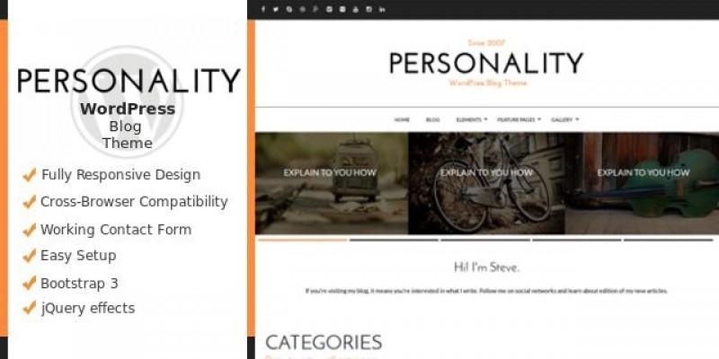 Personality - WordPress Personal Blog Theme