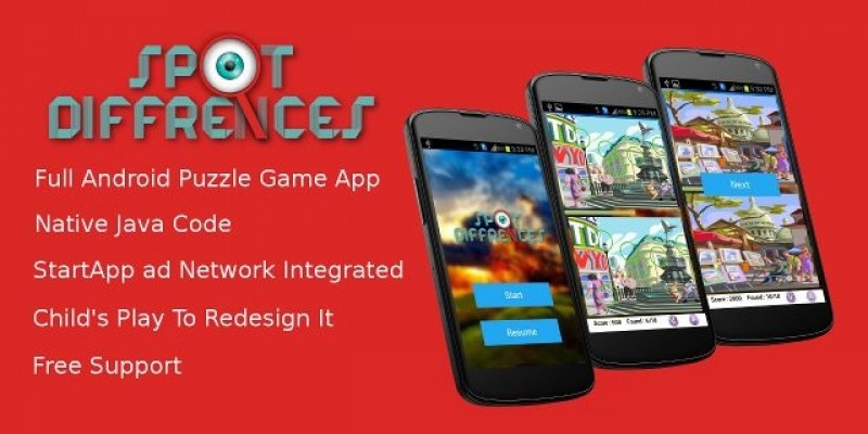 Spot Differences - Android Game Source Code