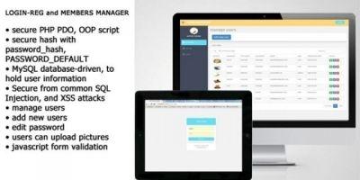 Login-Reg Members Management PHP