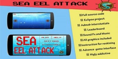 Sea Eel Attack - Android Game Source Code