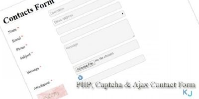 PHP Captcha & AJAX Contact Form