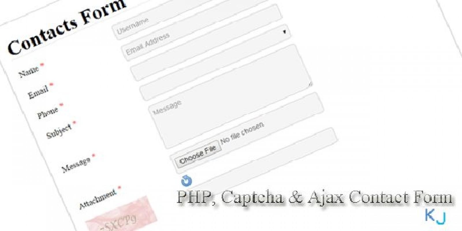 PHP Captcha & AJAX Contact Form