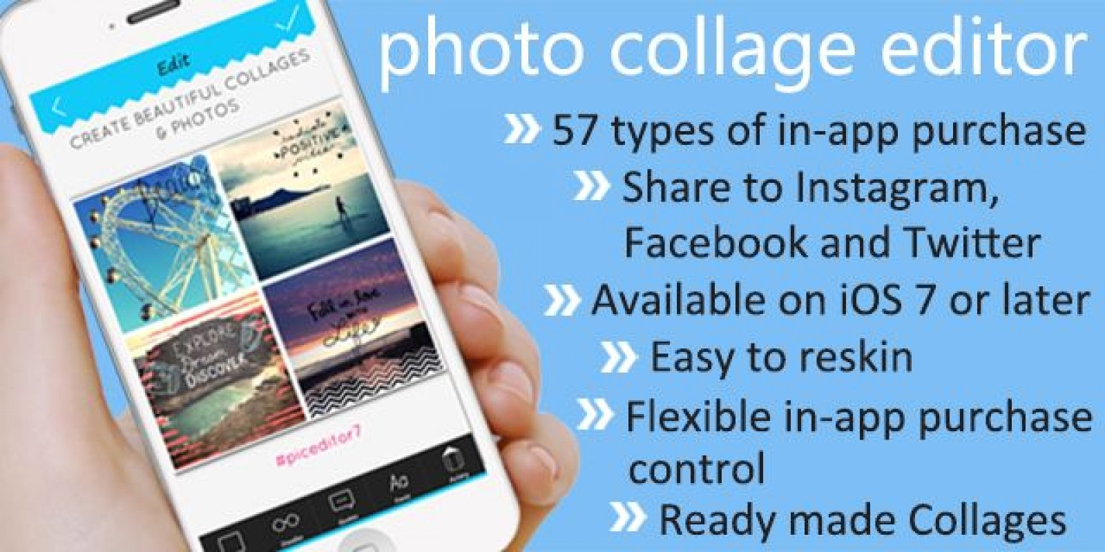 Photo Collage Editor - iOS App Source Code