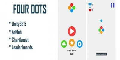 Four Dots - Unity Game Source Code