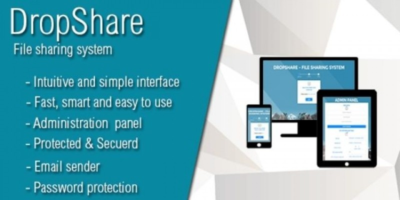 DropShare - File Sharing PHP Script