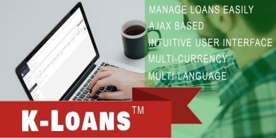 K-Loans - Loan Management System PHP Script