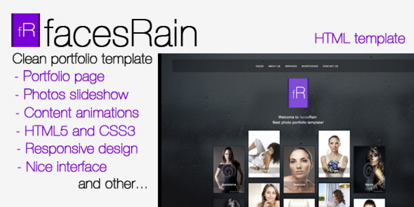 facesRain - Photographer HTML Template