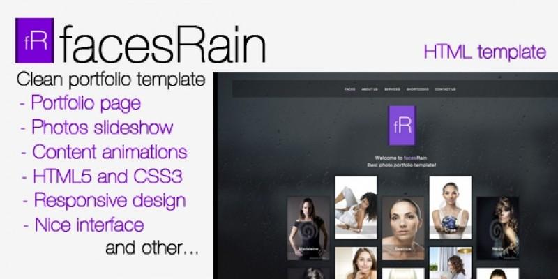 facesRain - Photographer HTML Template