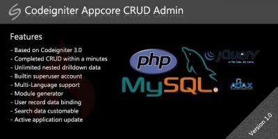 Codeigniter Appcore CRUD Admin