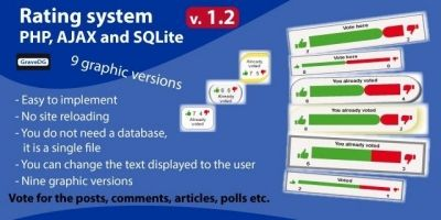 Rating System PHP AJAX and SQLite