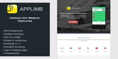 Applimb - Mobile App Onepage HTML Template