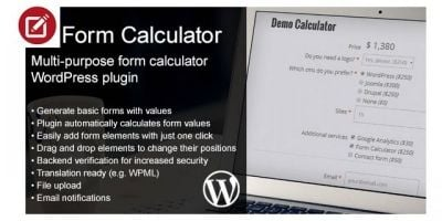 Estimate Form Costs Calculator - Wordpress plugin