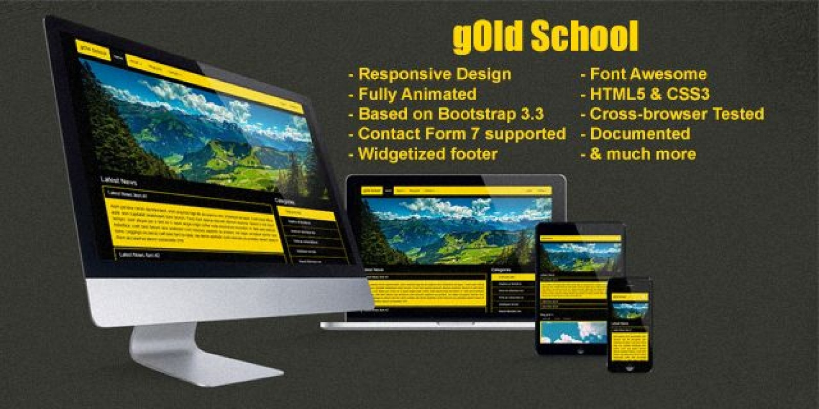 Gold School - Responsive WordPress Theme