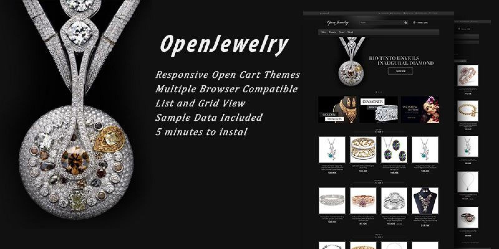 Open Jewelry - Responsive OpenCart Theme