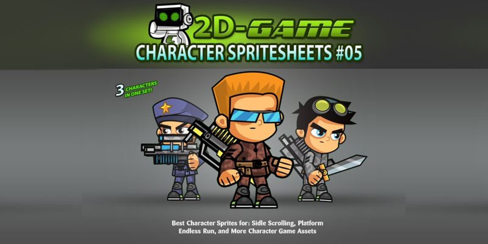 Soldiers 2D Game Character SpriteSheets 05