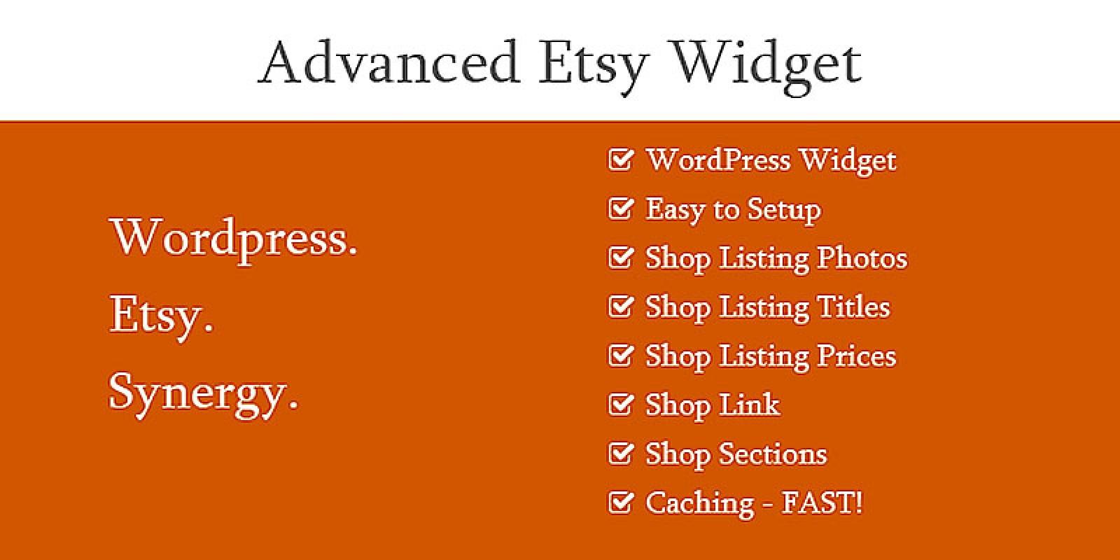 Advanced Etsy Widget - WordPress Plugin