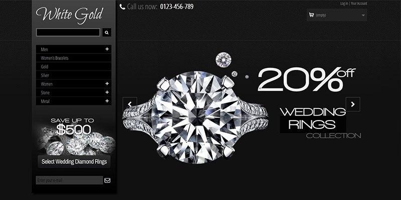 White Gold - Jewelry Store PrestaShop Theme