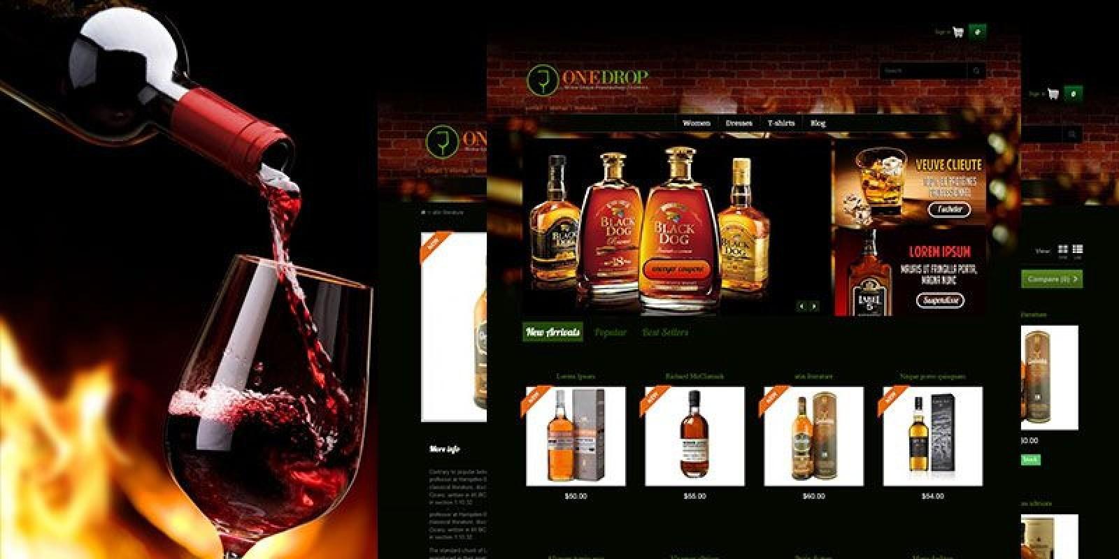 One Drop - Whine & Whiskey Store PrestaShop Theme