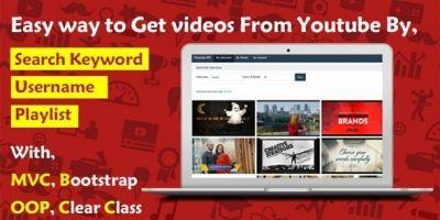 Simple Youtube API PHP