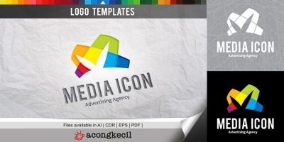 Media Icon - Logo Template