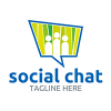 social-chat-logo-template