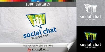 Social Chat - Logo Template