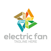 electric-fan-logo-template