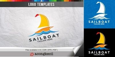 Sailboat - Logo Template