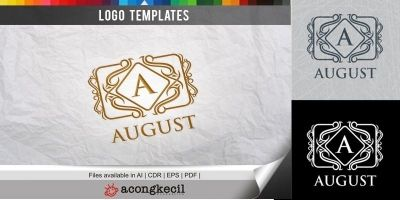 August - Logo Template