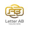 letter-ab-v1-logo-template
