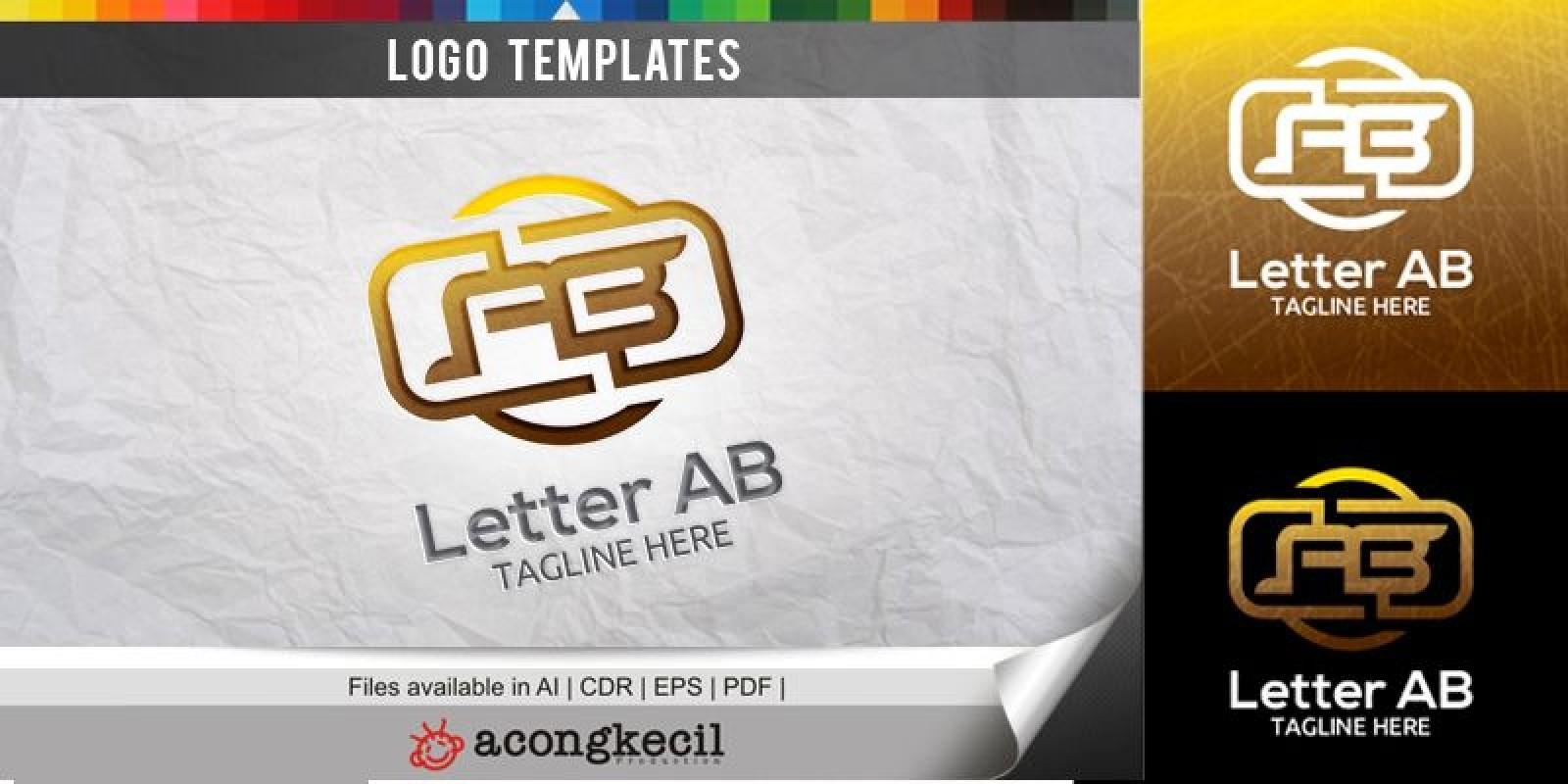 Letter AB V1 - Logo Template