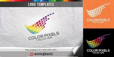 Color Pixels - Logo Template