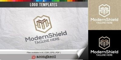 Modern Shield - Logo Template