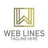 web-lines-logo-template