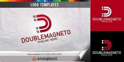Double Magneto - Logo Template