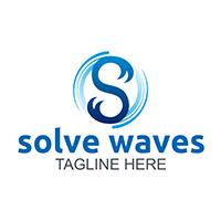 Solve Waves - Logo Template