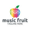 music-fruit-logo-template