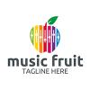 music-fruit-logo-template